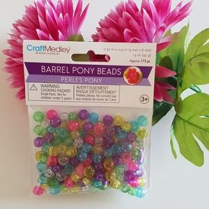 Sparkle Multi-Mix Glass Seed Beads (9mm x 6mm)